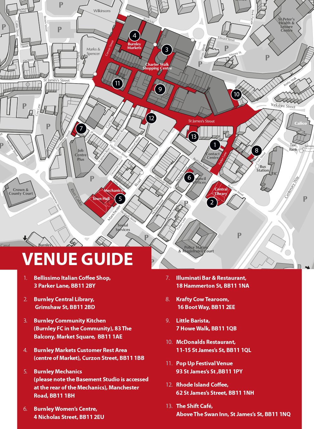 Burnley Literary Festival Map