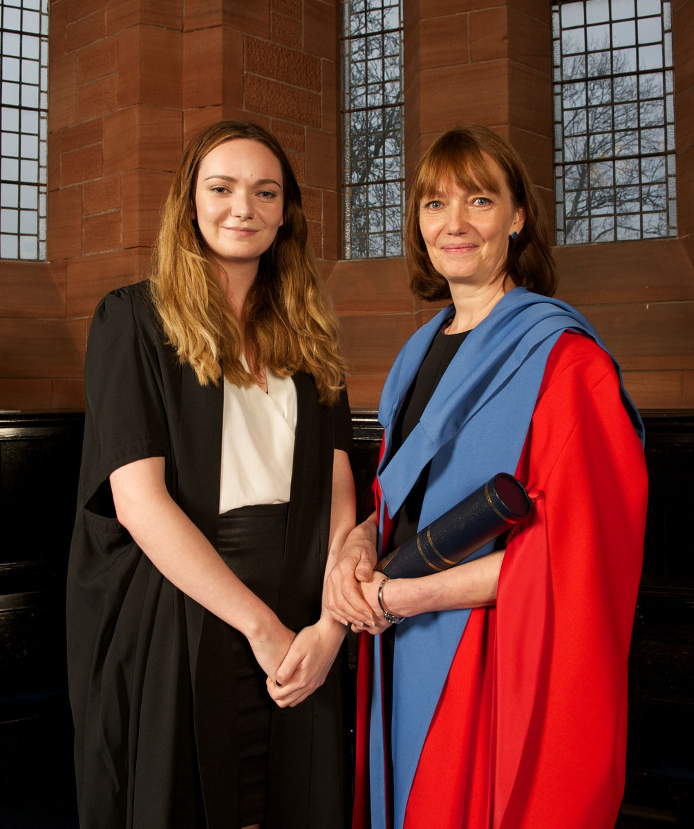 Susan Scurlock, CE and founder of Primary Engineer, receives an honorary degree from University of Strathclyde, at the same ceremony as her daughter, Jennifer.