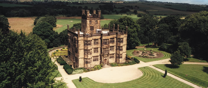 Gawthorpe Hall ariel view