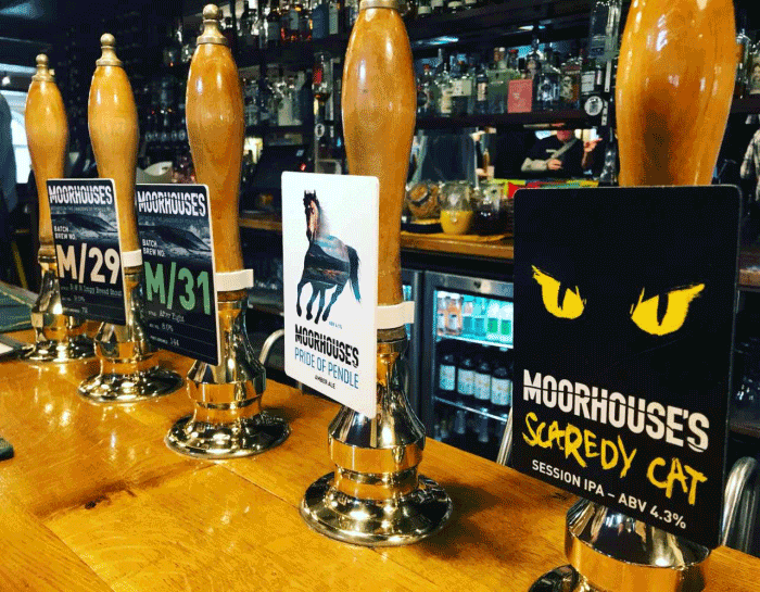 Selection of Moorhouse's beers