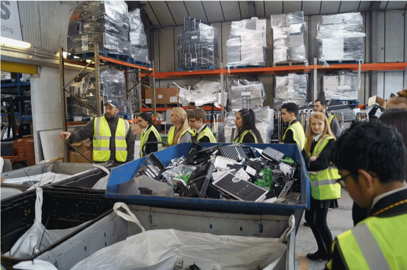 Shuttleworth pupils at Recycle IT