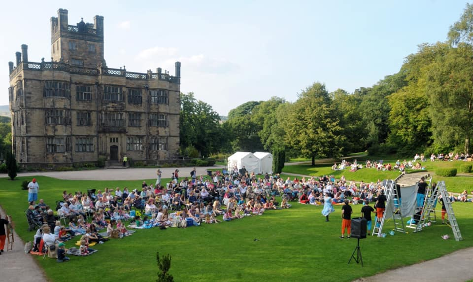 Outsoodr theatre at Gawthorpe Hall