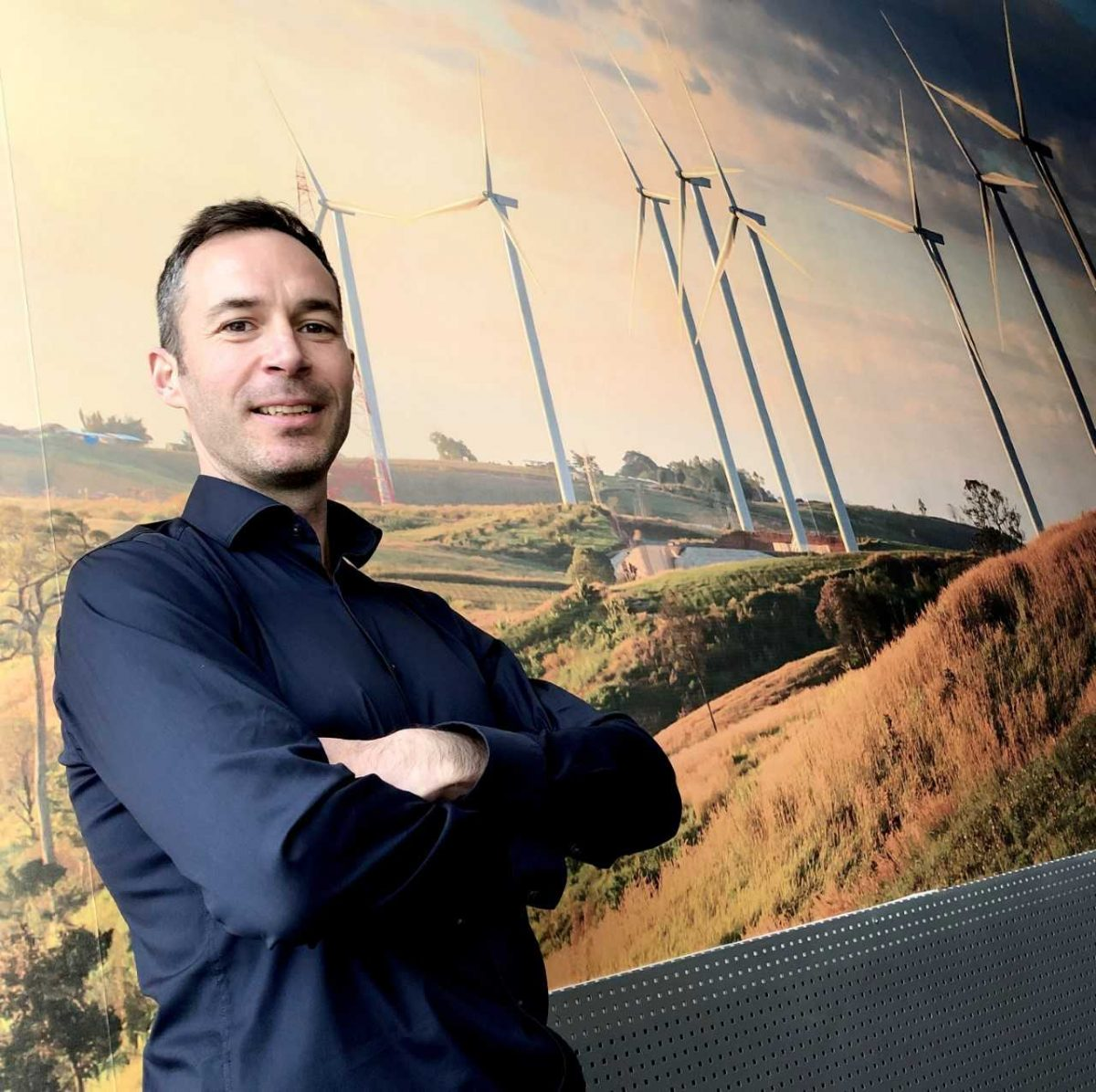 Frazer Durris, Managing Director of Businesswise Solutions, at the company's innovative Energy Centre, in Nelson, Lancashire