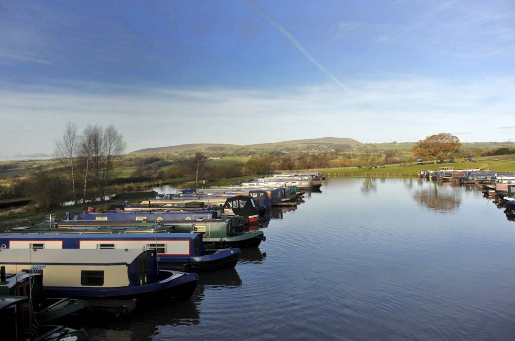 A marina in Burnley