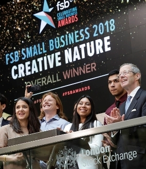 Small business happily celebrating the awards