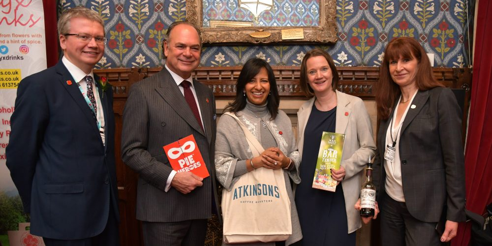 Five smiling Lancastrians in the House of Commons