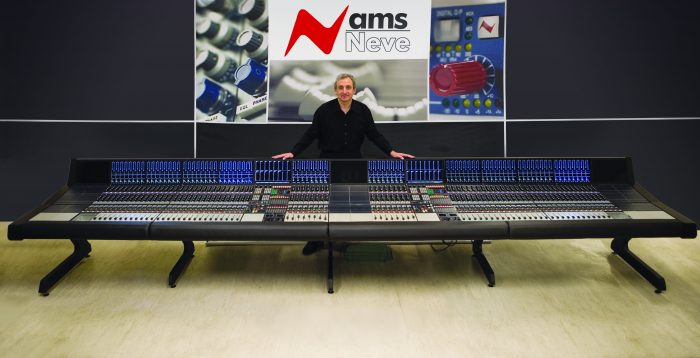 Mark Crabtree behind a high tech AMS Neve sound board