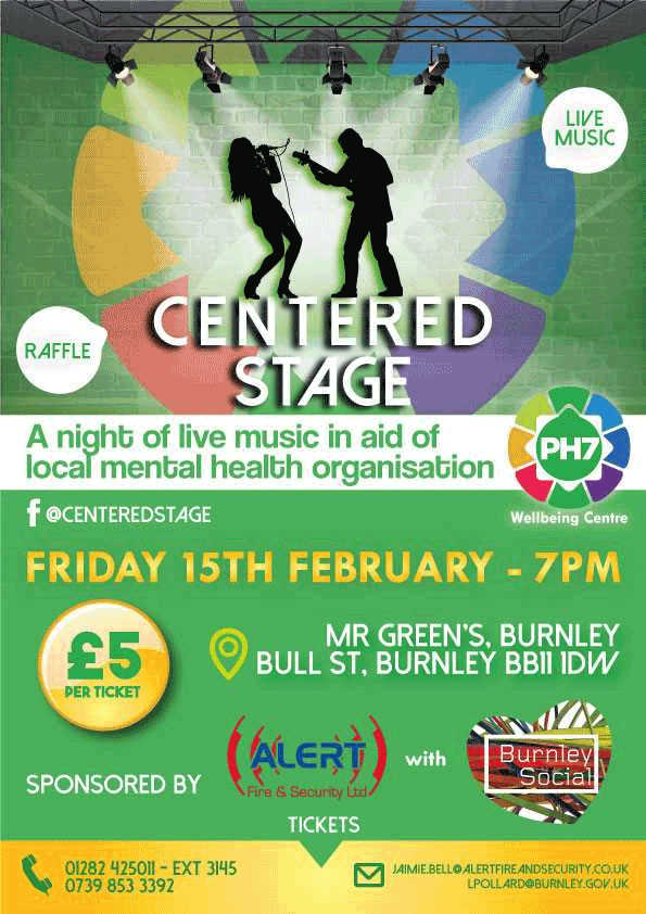 Centred Stage information: £5 for entry in aid of mental health organisation