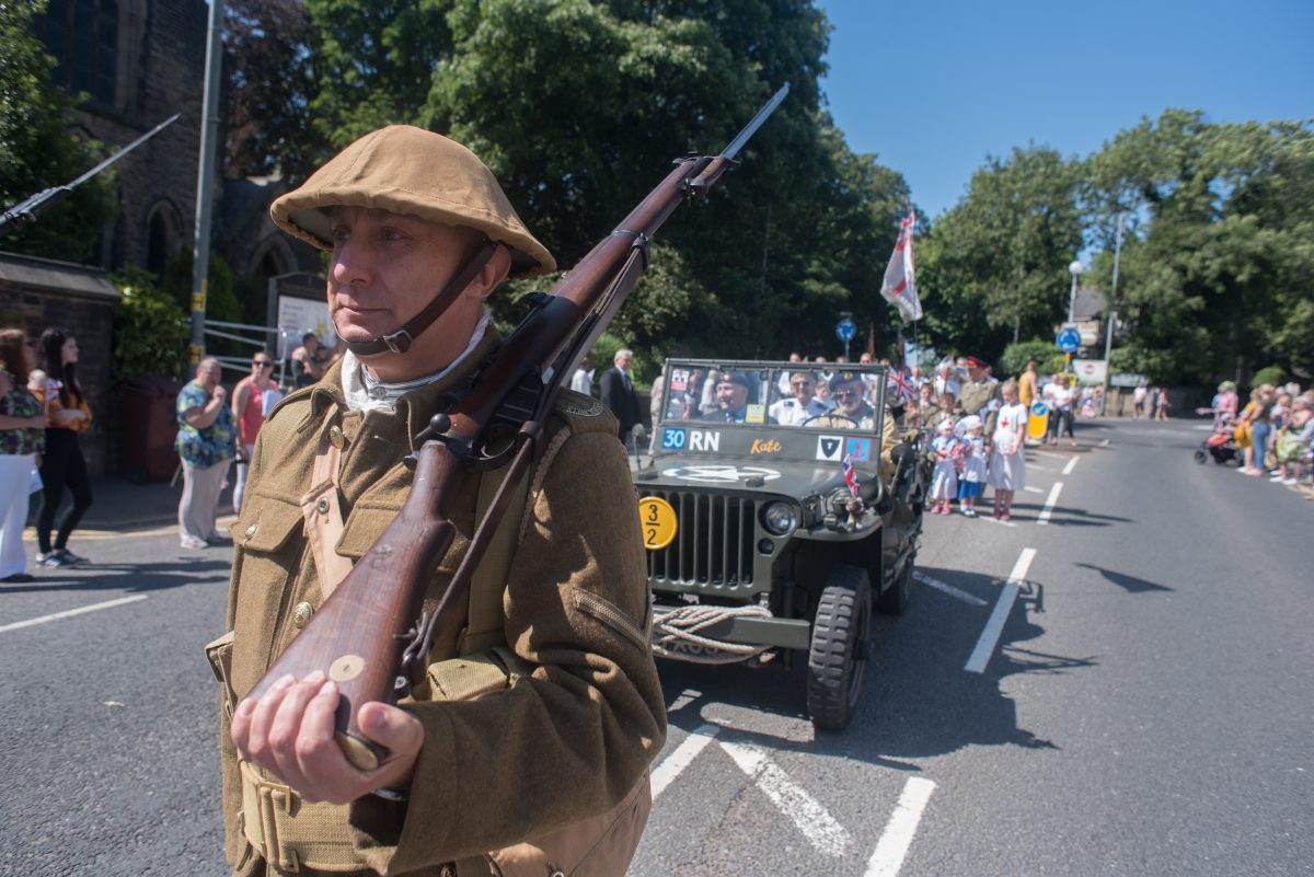 WW2 soldier in Padiham