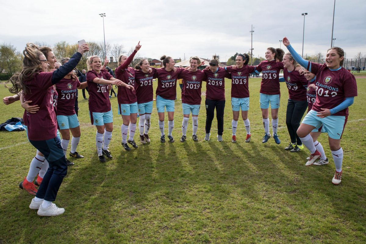 Burnley FC Women together