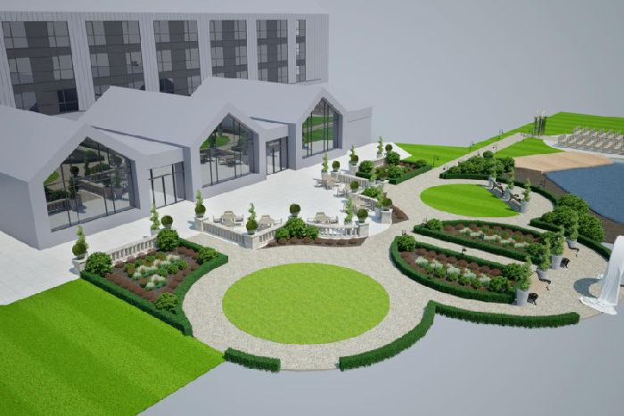 CGI of Crow Wood hotel