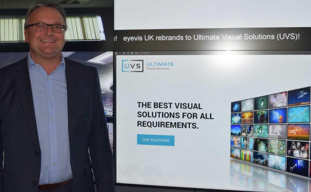 UVS managing director Steve Murphy standing by UVS screen