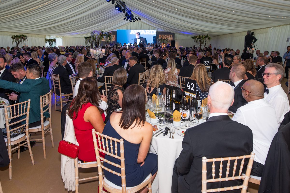 Guests dining at the Burnley Business Awards
