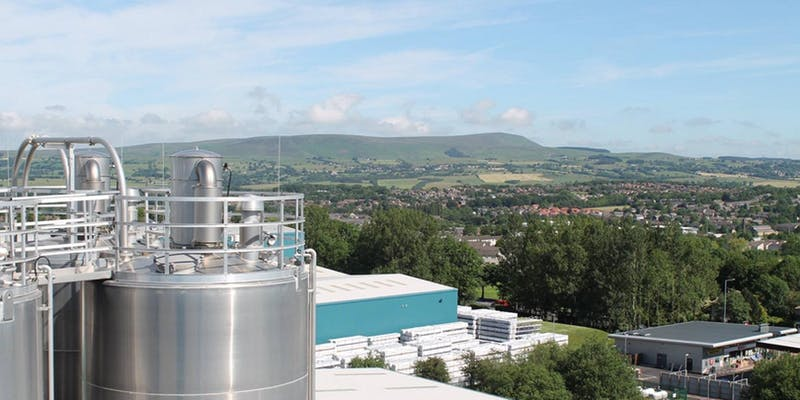 Silo with Pendle Hill in the background