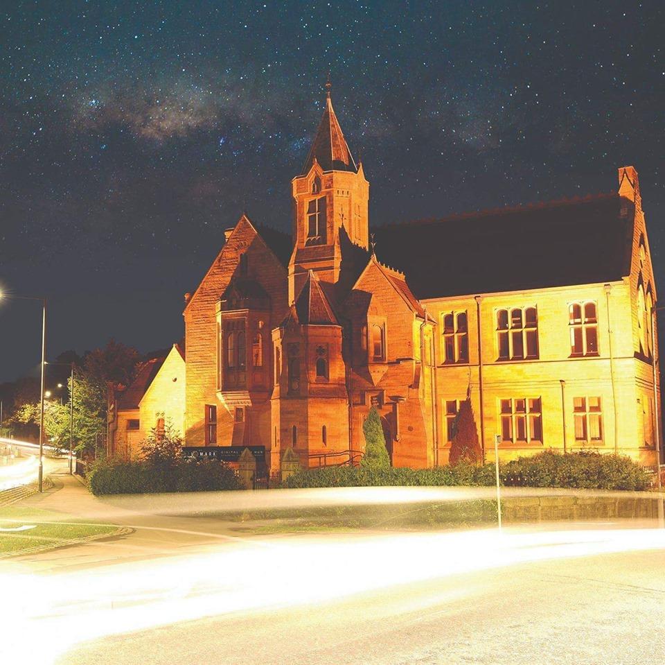 The landmark at night time