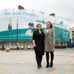 Call centre manager Emma Taggart (left) with Charlotte Hagan (right), chair of Petty Real