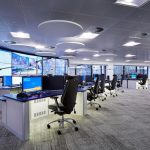 High tech computer room