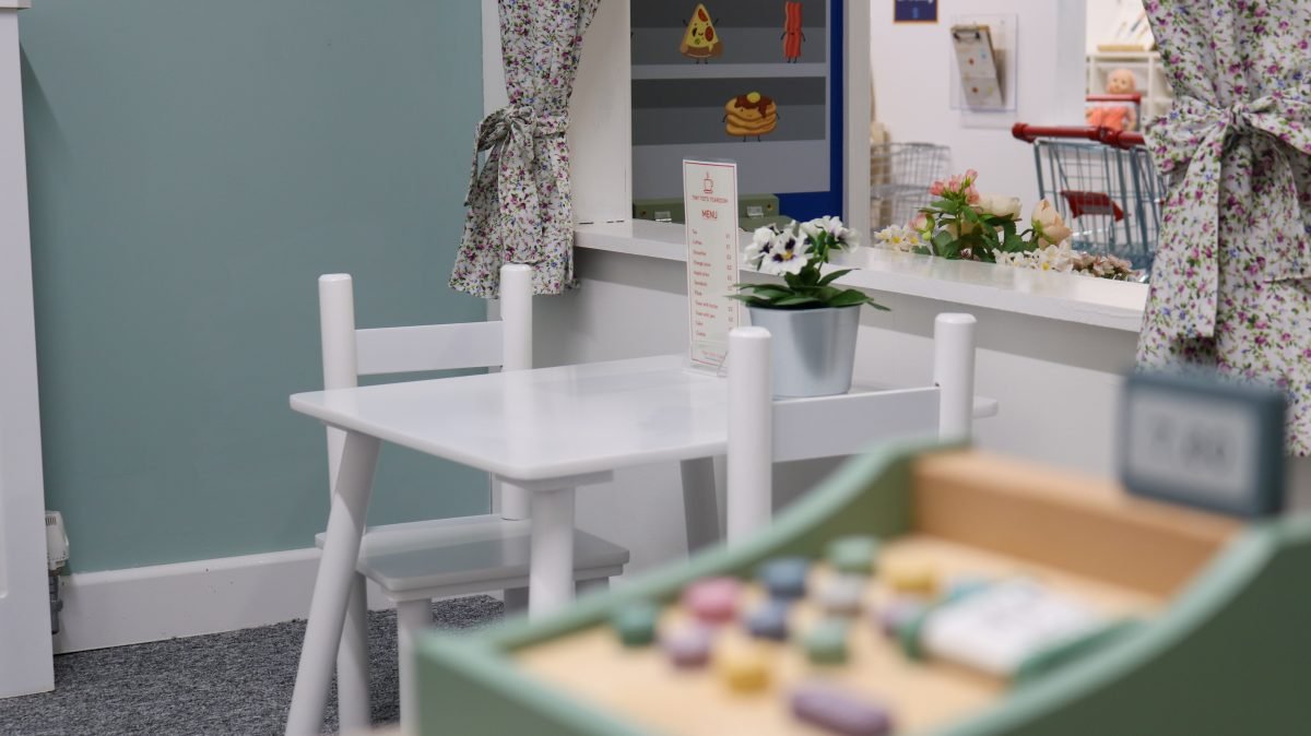The role play cafe at Tiny Tots Town Burnley