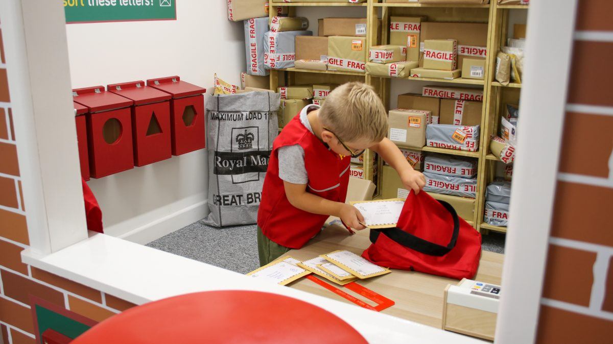 The role play post office at Tiny Tots Town Burnley